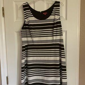 Black/white striped dress